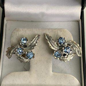Vintage Sarah Coventry silver designer earrings